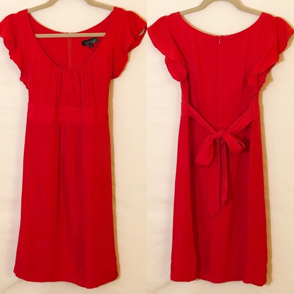 Topshop Dresses & Skirts - TopShop Red Dress Size 4
